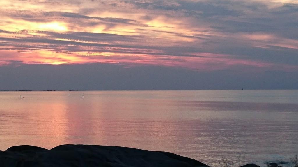 Öregrund sunset solnedgång
