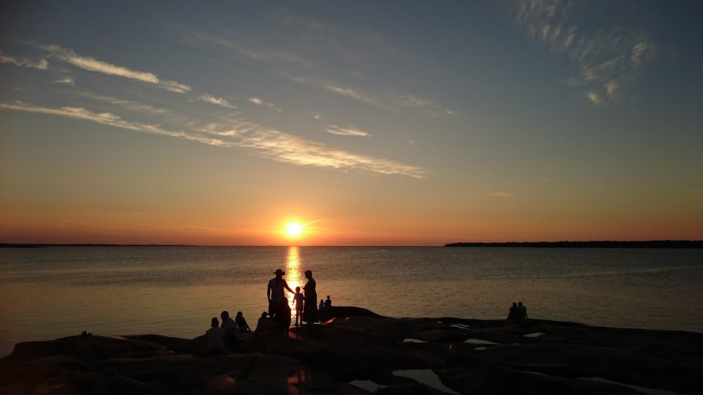 Öregrund solnedgång 2
