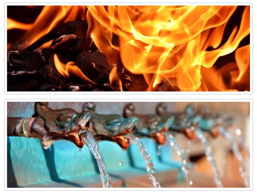 eld vatten